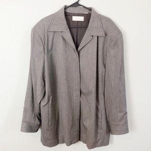 Elisabeth Liz Claiborne gray long jacket size 20